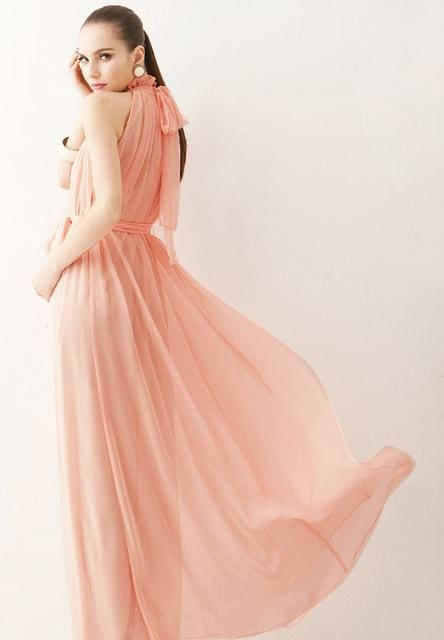 2017 New summer Maternity Dresses long Chiffon Bohemian Dress Clothes For Pregnant Women Maternidade Pink