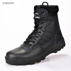 2017 New Us Military Leather Boots For Men Combat Bot Infantry Tactical Boots Askeri Bot Army Bots