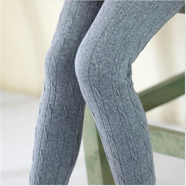 2017 Sale Mid New Fashion Knitting Kids Girls Leggings Autumn Winter Outfit Render Pants Children - MBMCITY
