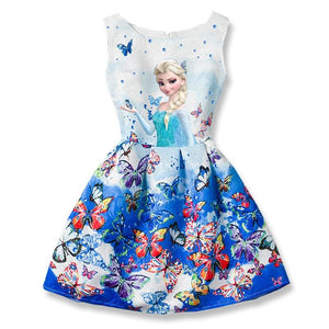 2017 Summer Girls Dresses Elsa Dress Anna Princess Party Dress For Girls Vestidos Teenagers