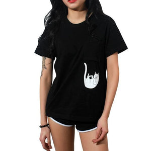 Summer T-shirt Women Casual Lady Top Tees Cotton Tshirt Female Brand Clothing T Shirt Printed - MBMCITY
