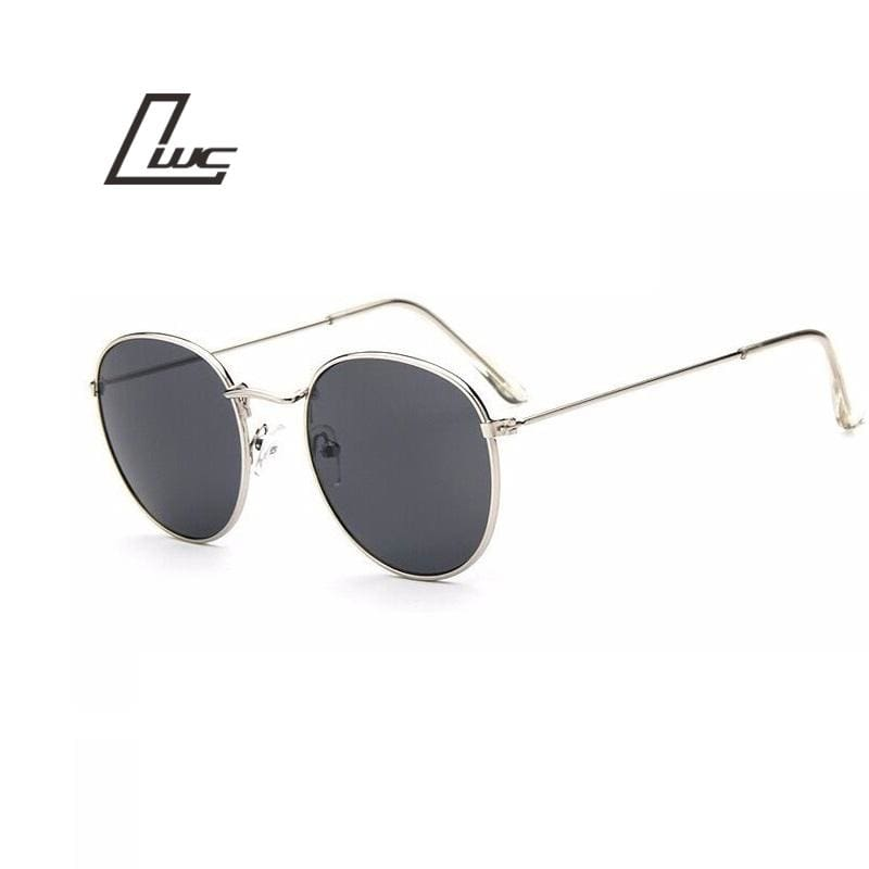 Sun Glasses for Women Round Brand Designer Men Sunglasses Women Mirror Luxury Black Male