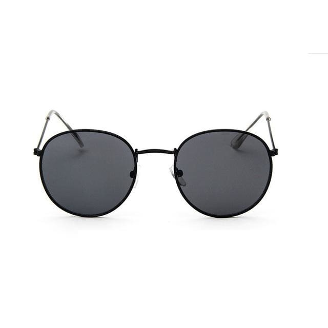 2017 Sun Glasses for Women Round Brand Designer Men Sunglasses Women Mirror Luxury Black Male BlackframeGrey