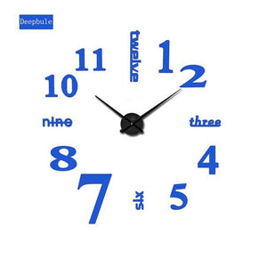 2017 Super Big DIY Wall Clock Acrylic+ Mirror large wall clock Personalized Digital Watches Clocks - MBMCITY