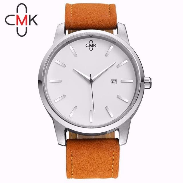 2017 Top Brand Luxury Military Leather Business Quartz Watches Casual Mens Water Resistant Calender