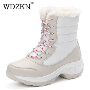 2017 Women Snow Boots Winter Warm Boots Thick Bottom Platform Waterproof Ankle Boots For Women Thick
