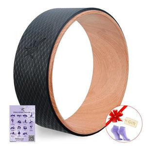 2017 Yoga Wheel Pilates Professional Tpe Yoga Circles Gym Workout Back Training Tool For Waist Shape Chocolate
