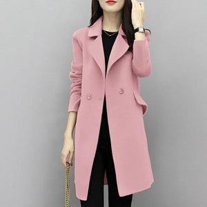 2017New Hot Sale Woman Wool Coat High Quality Winter Jacket Women Slim Woolen Long Cashmere Coats