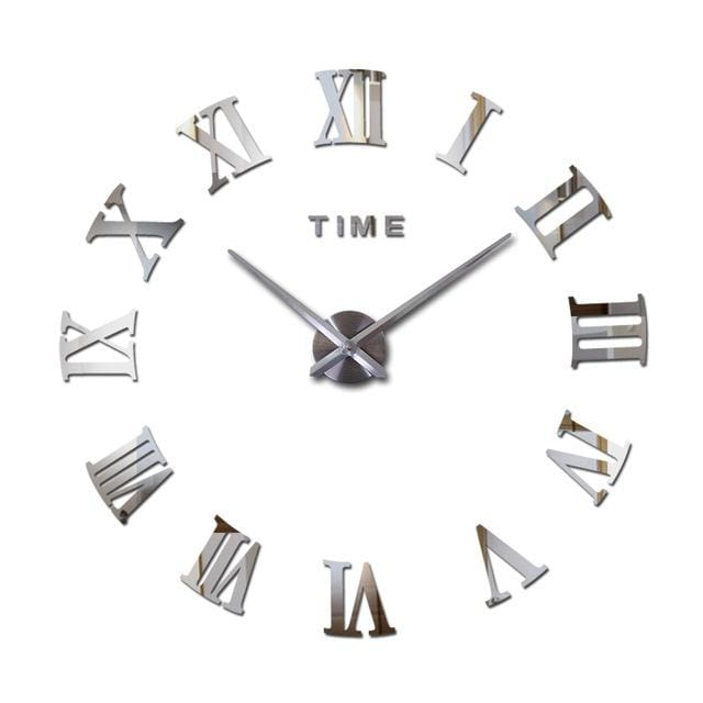 2018 3d diy living room new acrylic quartz watch wall clock clocks reloj de pared home decoration - MBMCITY