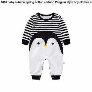 2018 baby autumn spring cotton cartoon Penguin style boy clothes newborn baby girl clothing infant