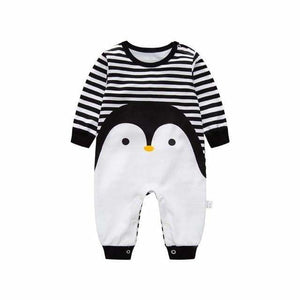 2018 baby autumn spring cotton cartoon Penguin style boy clothes newborn baby girl clothing infant qie / 3M