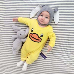 2018 Baby Autumn Spring Cotton Cartoon Penguin Style Boy Clothes Newborn Baby Girl Clothing Infant Aibama / 3M