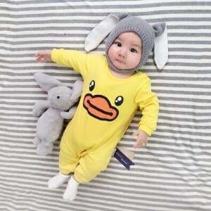 2018 Baby Autumn Spring Cotton Cartoon Penguin Style Boy Clothes Newborn Baby Girl Clothing Infant Yuanzuiya / 3M