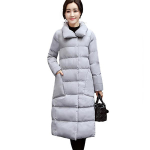 2018 Big Size Long Women Winter Jacket Coats Thick Warm Cotton Parkas Coat Female High Quality