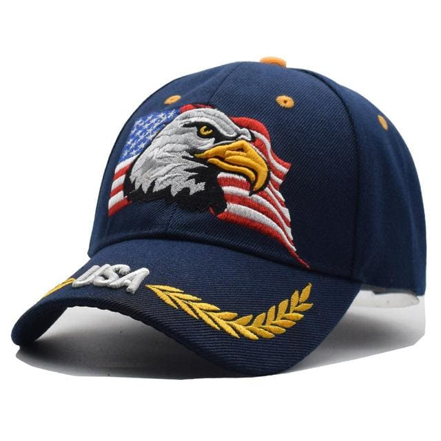 2018 Black Cap USA Flag Eagle Embroidery Baseball Cap Snapback Caps  Casquette Hats Fitted Casual – MBMCITY f7678f306