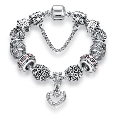 2018 High Quality Charms Beads fit Original bracelet Silver Color Crystal Beads Fashion Bracelets & - MBMCITY