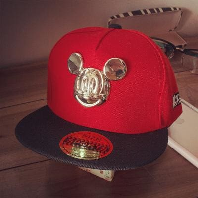 2018 Hot Cartoon Cute Ear Hats Children Snapback Caps Baseball Cap With Ears Funny Hats Spring Red / Adjustable