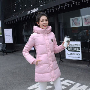 2018 Hot Sale Women Winter Hooded Jacket Female Outwear Cotton Plus Size 3Xl Warm Coat Thicken M-Pink / Xl