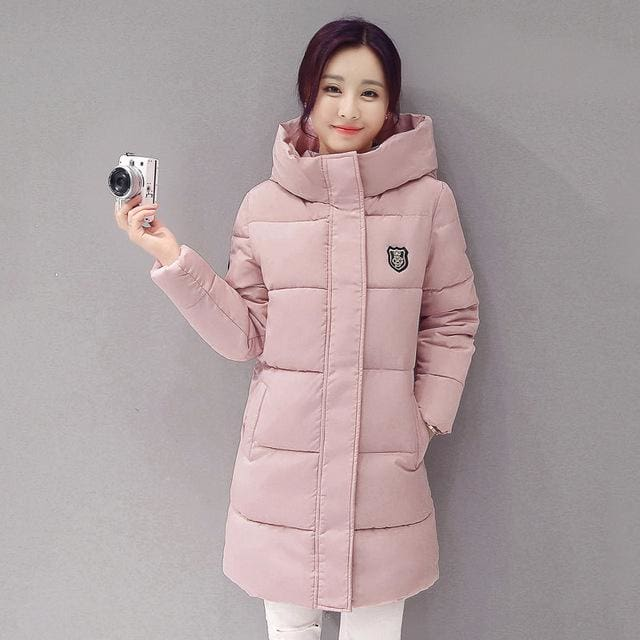 2018 Hot Sale Women Winter Hooded Jacket Female Outwear Cotton Plus Size 3Xl Warm Coat Thicken Y-Deep Pink / Xl