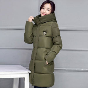 2018 Hot Sale Women Winter Hooded Jacket Female Outwear Cotton Plus Size 3Xl Warm Coat Thicken Deep Green / M