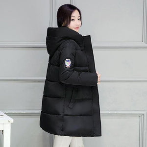 2018 Hot Sale Women Winter Hooded Jacket Female Outwear Cotton Plus Size 3Xl Warm Coat Thicken Navy Blue / Xl