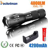 2018 Led Flashlight 18650 Torch Waterproof Rechargeable Xm-L T6 4000Lm 5 Mode Led Zoomable Light Type B