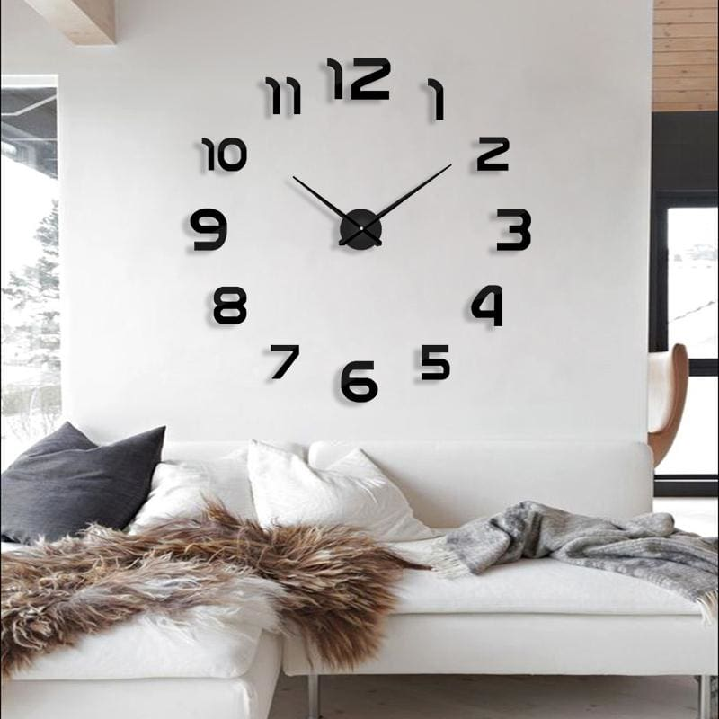 2018 new clock watch wall clocks horloge 3d diy acrylic mirror Stickers Home Decoration Living Room