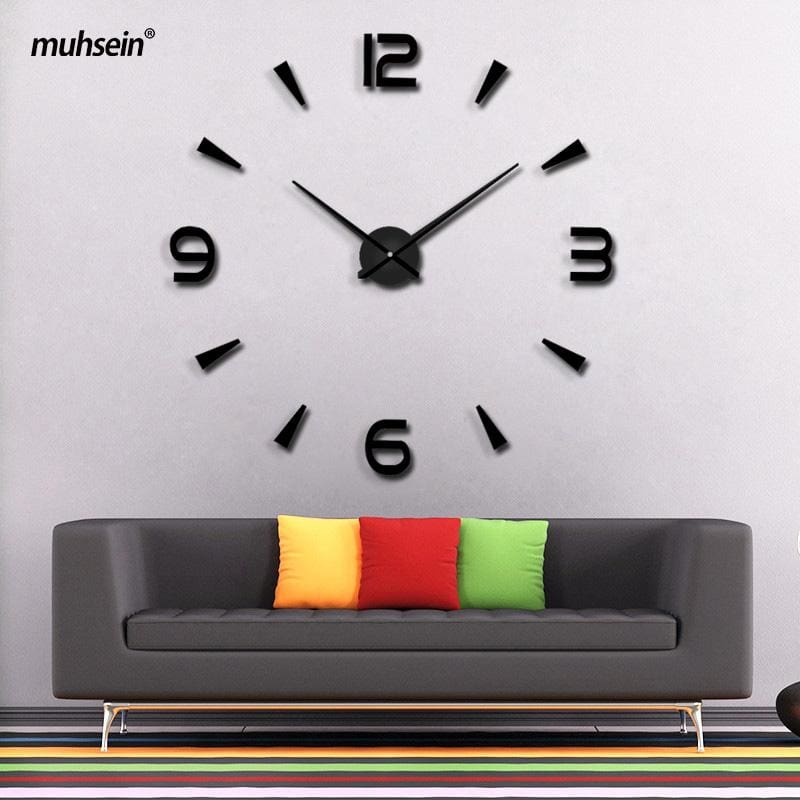 2018 New High Quality 3D Wall Stickers Saat Creative Fashion Living Room Clocks Home Decoration