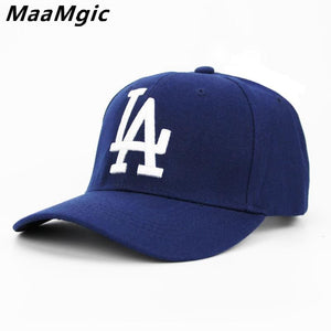 2018 New letter LA Baseball Caps  Dodgers Embroidery Hip Hop bone Snapback Hats for Men Women - MBMCITY