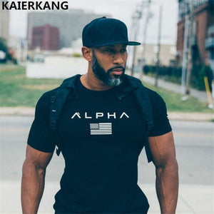 2018 New Men Cotton Gyms Men T Shirt Fitness Bodybuilding Shirts Crossfit Male Brand Tees Short