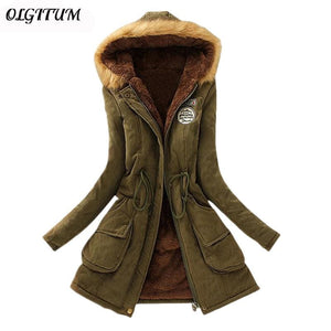 2018 New Parkas Female Women Winter Coat Thickening Cotton Winter Jacket Womens Outwear Parkas For