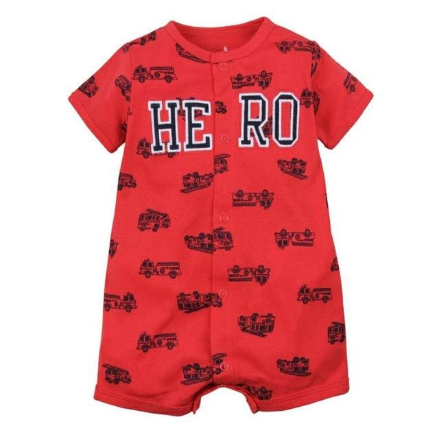 2018 NEW stlye Summer baby boys rompers kids Short sleeve clothing Baby girls cotton Jumpsuit her / 9M