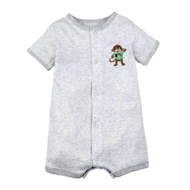 2018 NEW stlye Summer baby boys rompers kids Short sleeve clothing Baby girls cotton Jumpsuit hhou / 9M