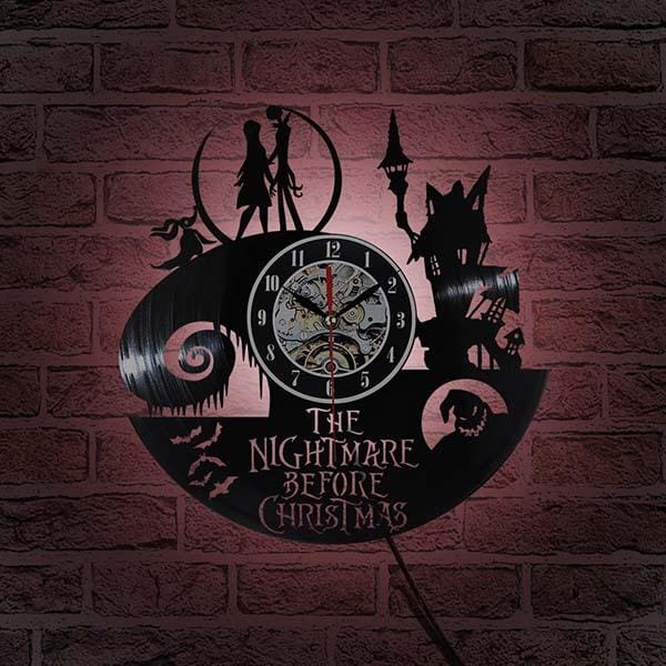 2018 New Vinyl Record Wall Clock Jack and Sally Classic Clocks Quartz Mechanism Horloge Reloj - MBMCITY