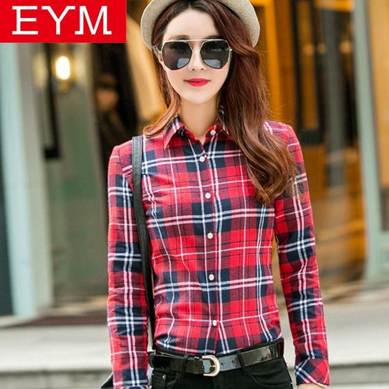 2018 New Women Loose Blouses Thick Warm Cotton Long Sleeve Blouse