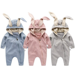 2018 Newborn Infant Baby Girl Boy Clothes Cute 3D Bunny Ear Romper Jumpsuit Playsuit Autumn Winter Warm Babies Rompers One Piece Rabbit 3 /