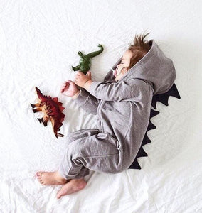 2018 Newborn Infant Baby Girl Boy Clothes Cute 3D Bunny Ear Romper Jumpsuit Playsuit Autumn Winter Warm Babies Rompers One Piece Dinosaur 1