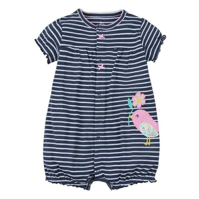 2018 orangemom baby girl clothes one-pieces jumpsuits baby clothing cotton short romper infant girl zqn / 9M