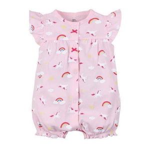 2018 Orangemom Baby Girl Clothes One-Pieces Jumpsuits Baby Clothing Cotton Short Romper Infant Girl Fencaihong / 9M