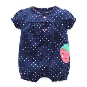 2018 Orangemom Baby Girl Clothes One-Pieces Jumpsuits Baby Clothing Cotton Short Romper Infant Girl Strawberry / 6M
