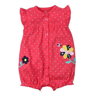 2018 orangemom baby girl clothes one-pieces jumpsuits baby clothing cotton short romper infant girl honghua / 6M