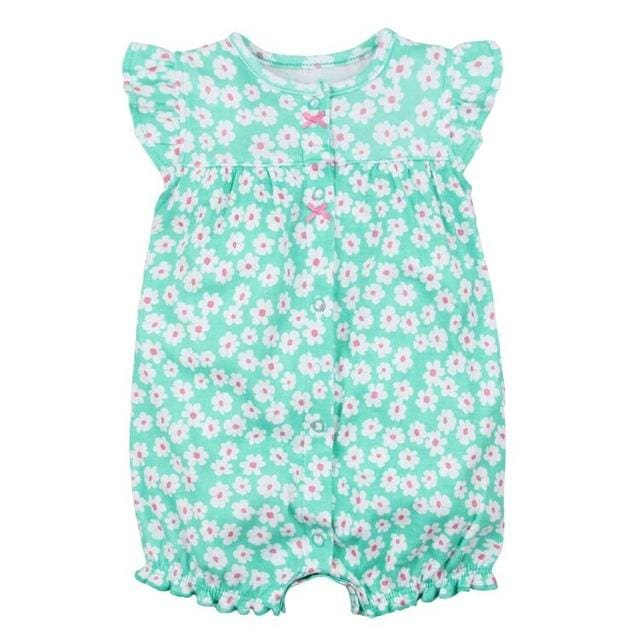 2018 Orangemom Baby Girl Clothes One-Pieces Jumpsuits Baby Clothing Cotton Short Romper Infant Girl Lusuihua / 9M
