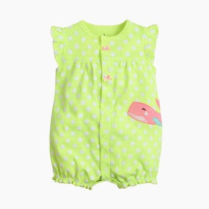 2018 orangemom baby girl clothes one-pieces jumpsuits baby clothing cotton short romper infant girl green / 6M