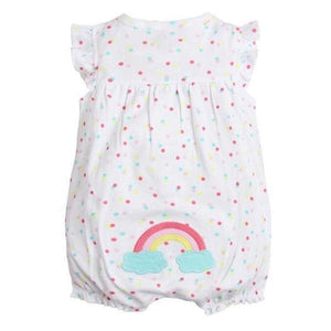 2018 orangemom baby girl clothes one-pieces jumpsuits baby clothing cotton short romper infant girl rainbow / 6M