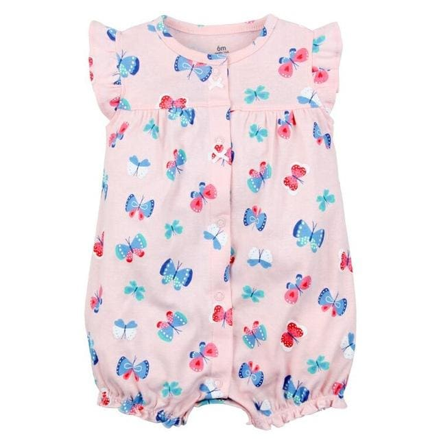 2018 orangemom baby girl clothes one-pieces jumpsuits baby clothing cotton short romper infant girl fen xin kuan / 9M