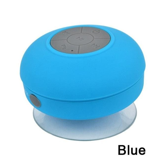 2018 Portable Subwoofer Waterproof Shower Speaker Wireless Bluetooth Handsfree Receive Call Music Blue