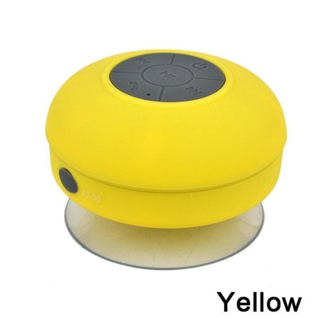 2018 Portable Subwoofer Waterproof Shower Speaker Wireless Bluetooth Handsfree Receive Call Music Yellow