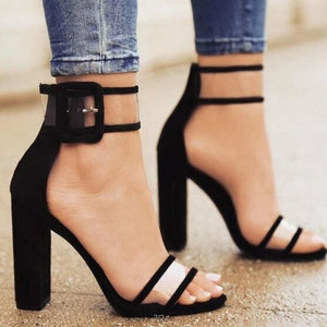 2018 shoes Women Summer Shoes T-stage Fashion Dancing High Heel Sandals Sexy Stiletto Party Wedding 2258W black / 4