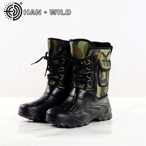 2018 Spring Autumn Boots Men Fishing Boots Non-slip Waterproof Work Shoes Tooling Boots Men Warm - MBMCITY