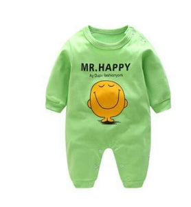 2018 Spring Autumn Long Sleeved Cotton Romper Baby Clothes Childrens Clothing Cartoon Penguin Baby Happy / 3M